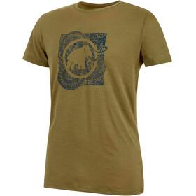 Mammut Alnasca Bluzka z krótkim rękawem Mężczyźni oliwkowy